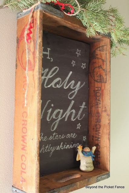 Chalkboard Sign & An Old Crate