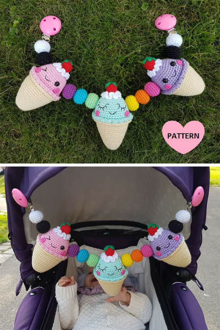 Ice Cream Stroller Mobile