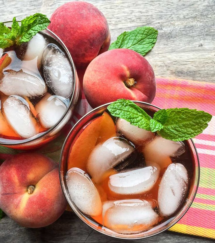 Instant Pot Ginger-Peach Iced Tea