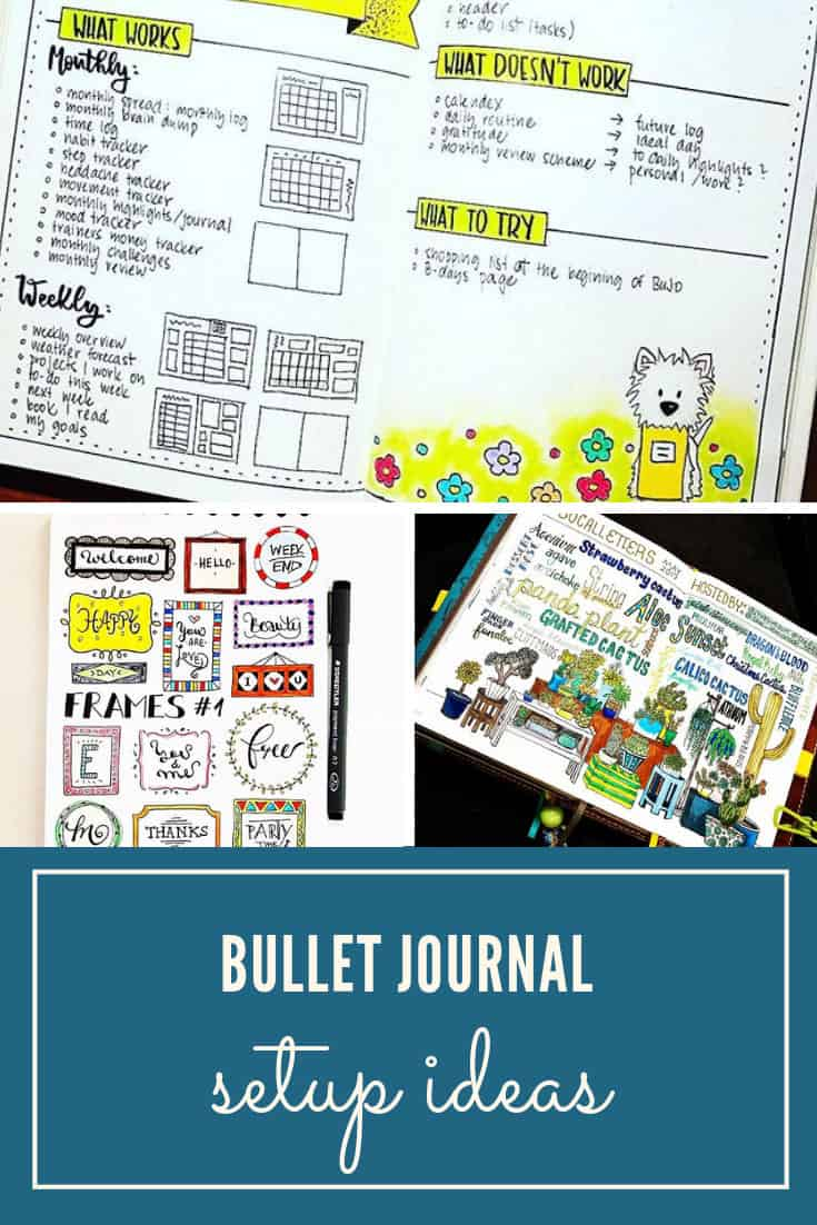 Ideas for your Bullet Journal setup