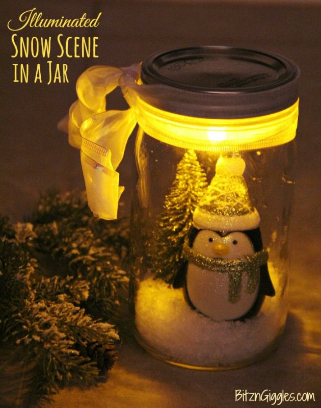 This little penguin in a snow jar is so CUTE - my daughter needs one this Christmas!