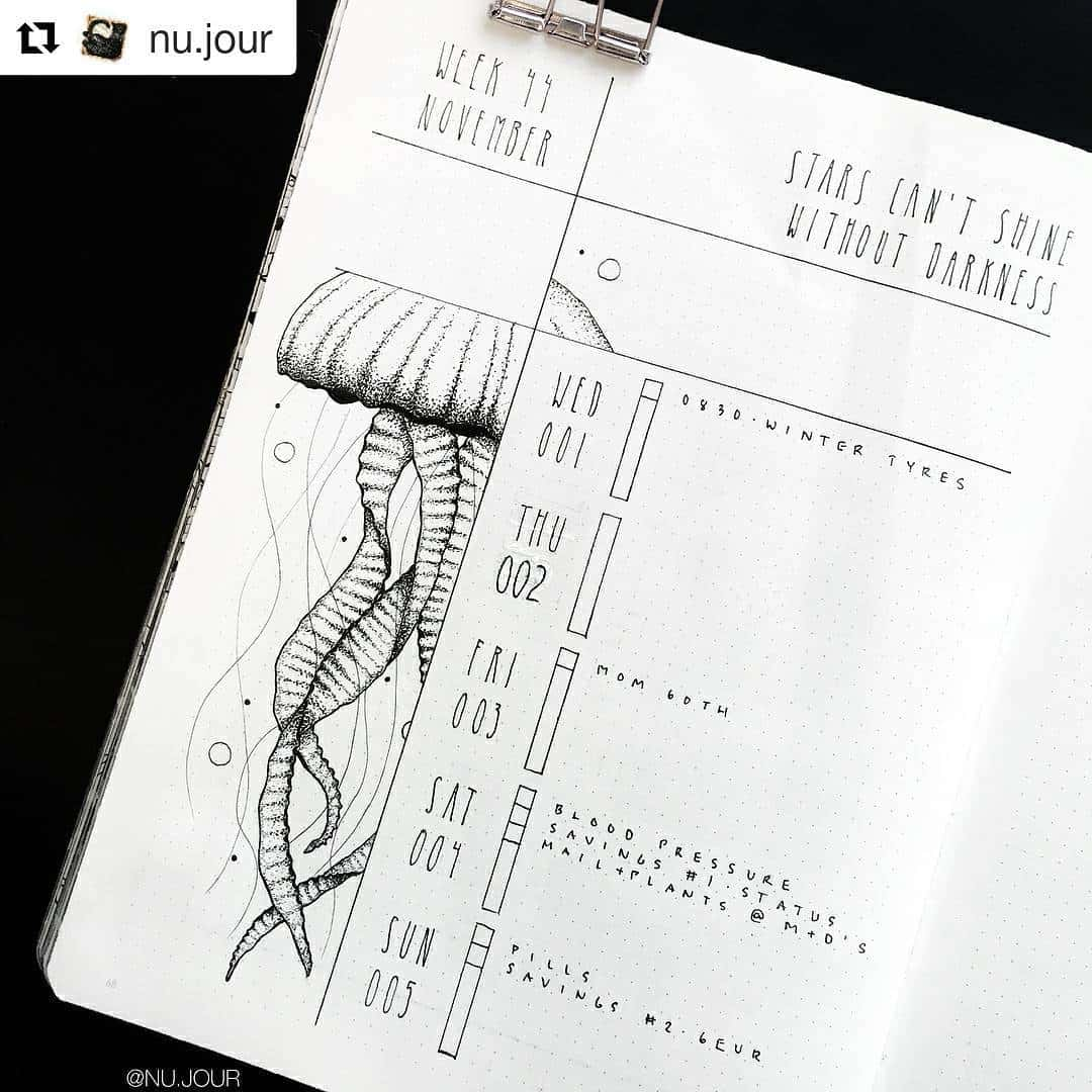 Illustrate your sidebar - Bullet Journal weekly
