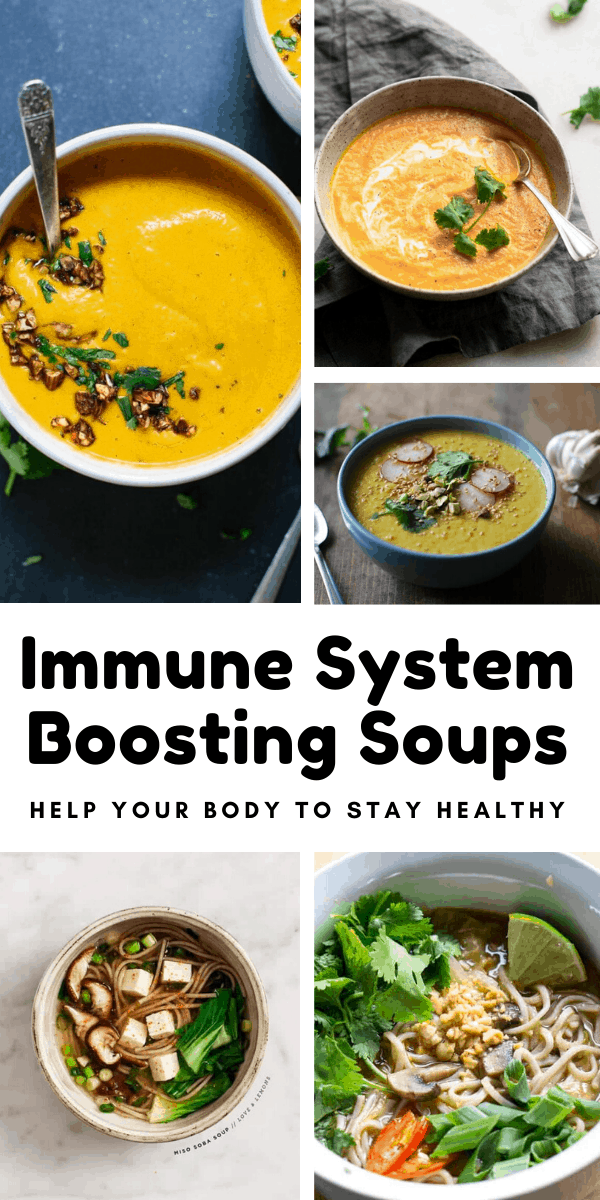 These immune system boosting soups are perfect for healping your body stay healthy through cold and flu season