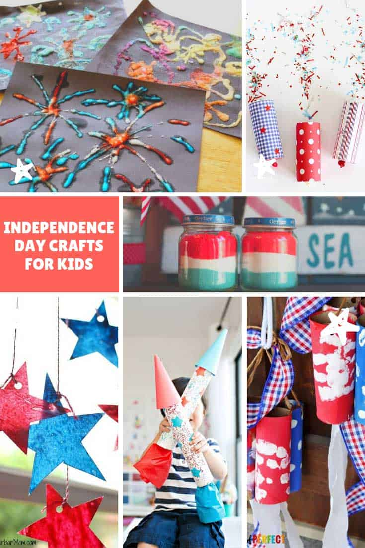 My children are going to LOVE these Independence Day crafts for kids - especially the toilet paper tube fireworks!
