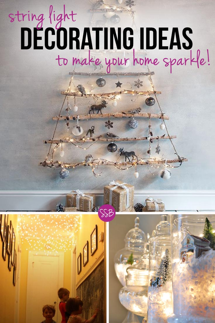 We've rounded up 20 different indoor Christmas lights decorating ideas to help you make your home look twinkly and spectacular this Holiday season!