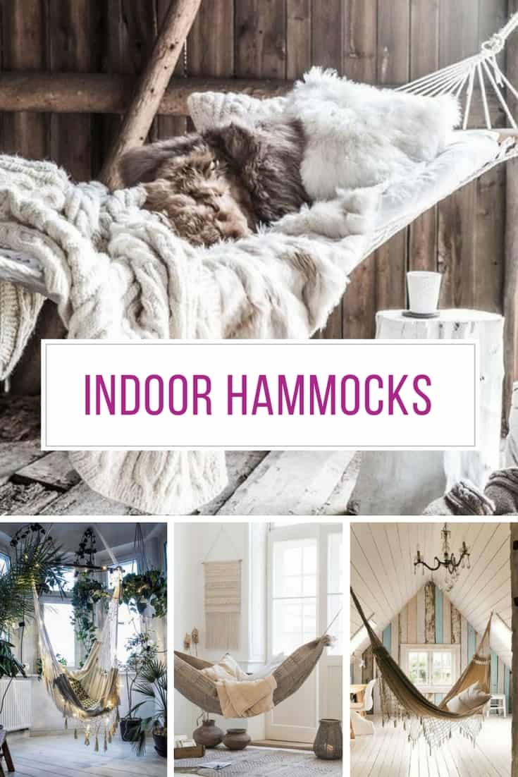 So many amazing indoor hammock ideas here!