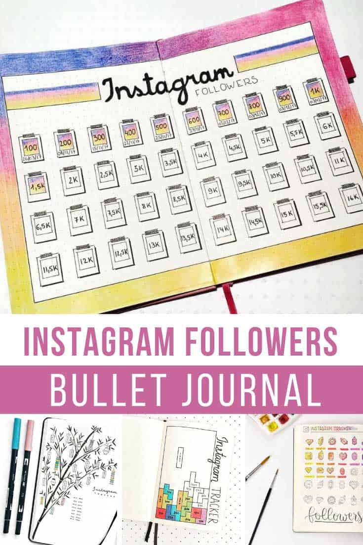 Love these instagram tracker ideas for my bullet journal !