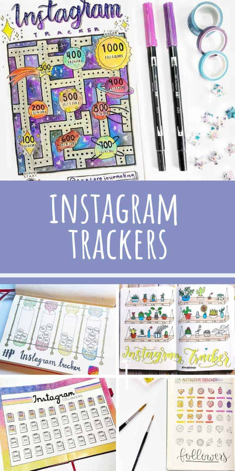 Loving these bullet journal instagram trackers!