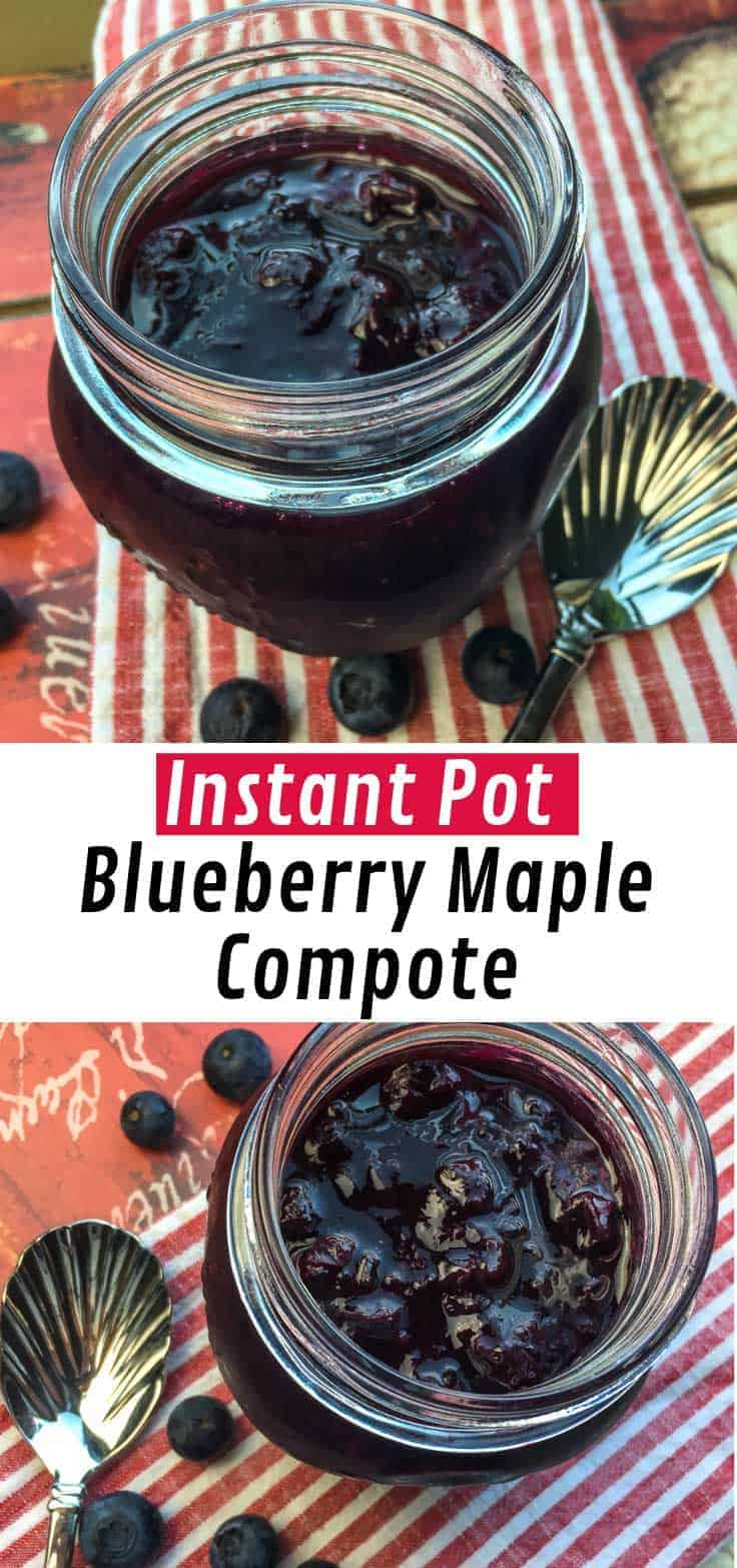 Traditional compote recipes are packed full of white sugar, but today we're sharing a much healthier version that still tastes delicious. The secret to this low-sugar Instant Pot Blueberry Maple Compote is a modest amount of Maple Syrup!