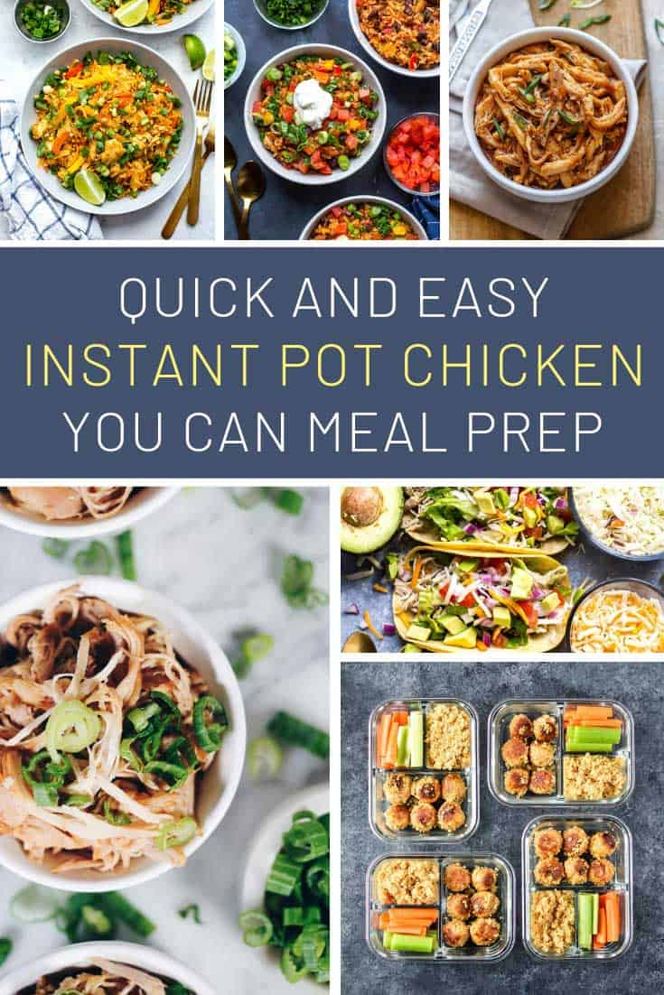 These instant pot meal prep chicken recipes taste better than takeout!