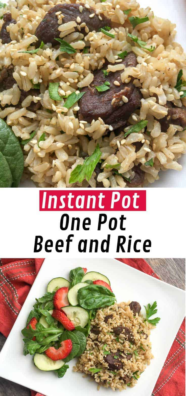 This Instant Pot Asian Beef & Rice dish is sure to become a family favourite. It tastes as good as your favourite Asian restaurant dish but now you can make it at home in your pressure cooker!