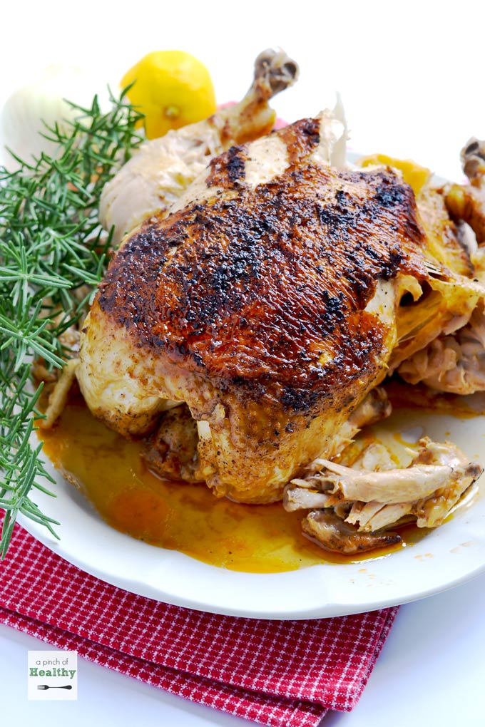 How DELICIOUS does this rotisserie chicken look! Only 45 minutes in the Instant Pot!