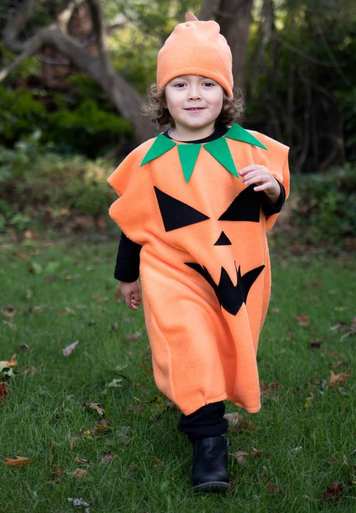 Jack-O-Lantern Costume DIY- Easy to Sew!