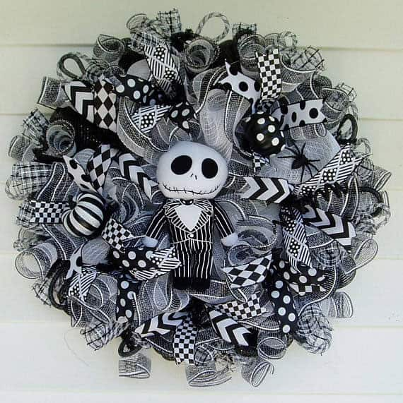 Jack Skellington Deco Mesh Wreath