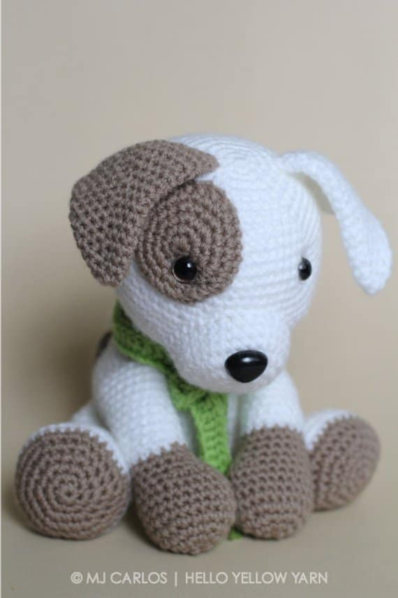 Jack the Pup Stuffed Amigurumi Toy