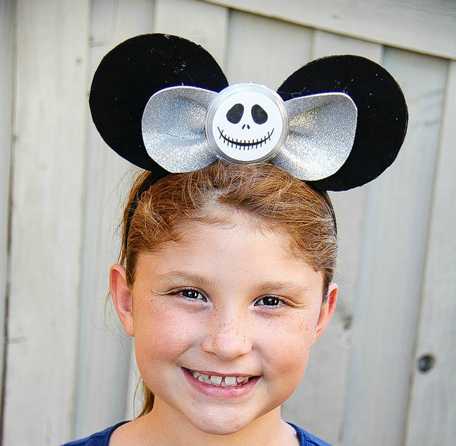DIY Jack Skellington Mickey Mouse Ears