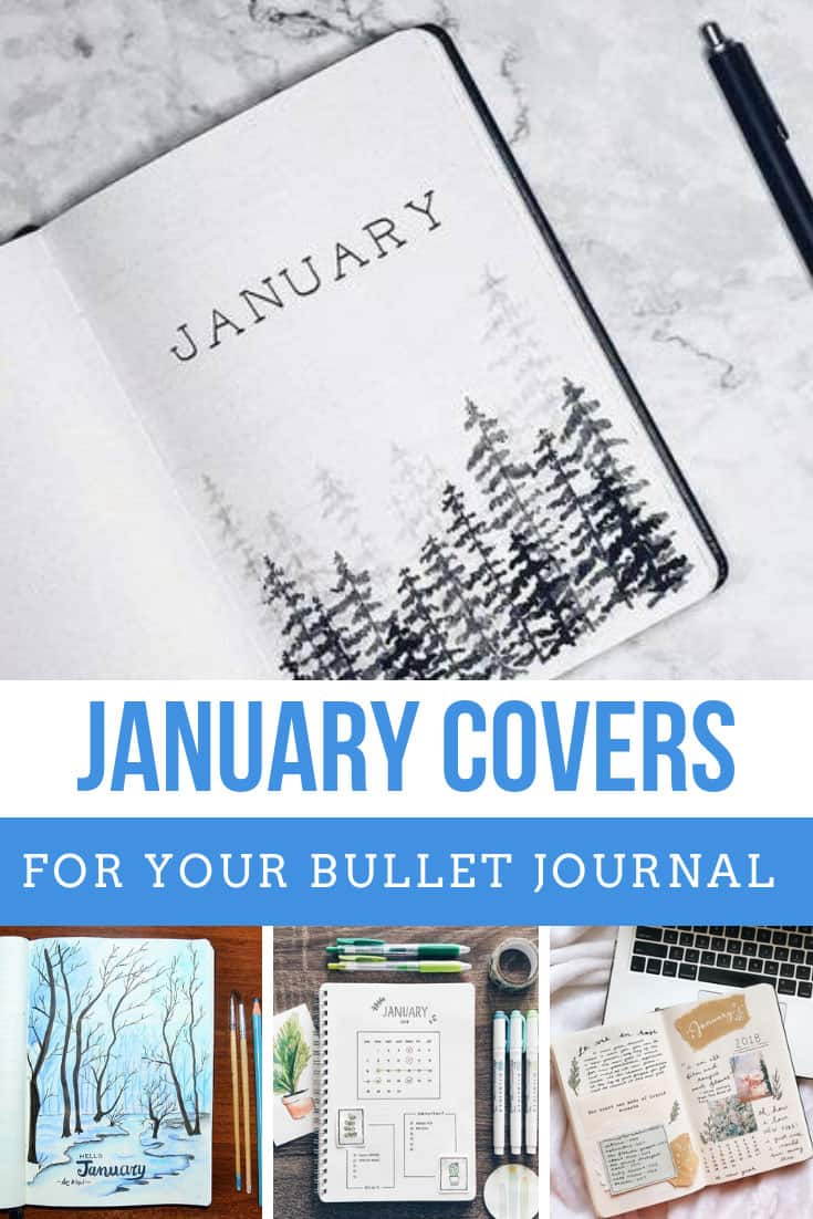 These January Bullet Journal Cover Page Ideas are so inspirational!
