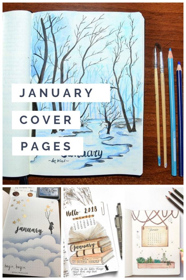 These January bullet journal cover pages are super creative and perfect to inspire you!