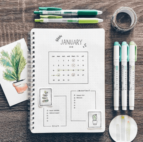 January Cover Page Dashboard