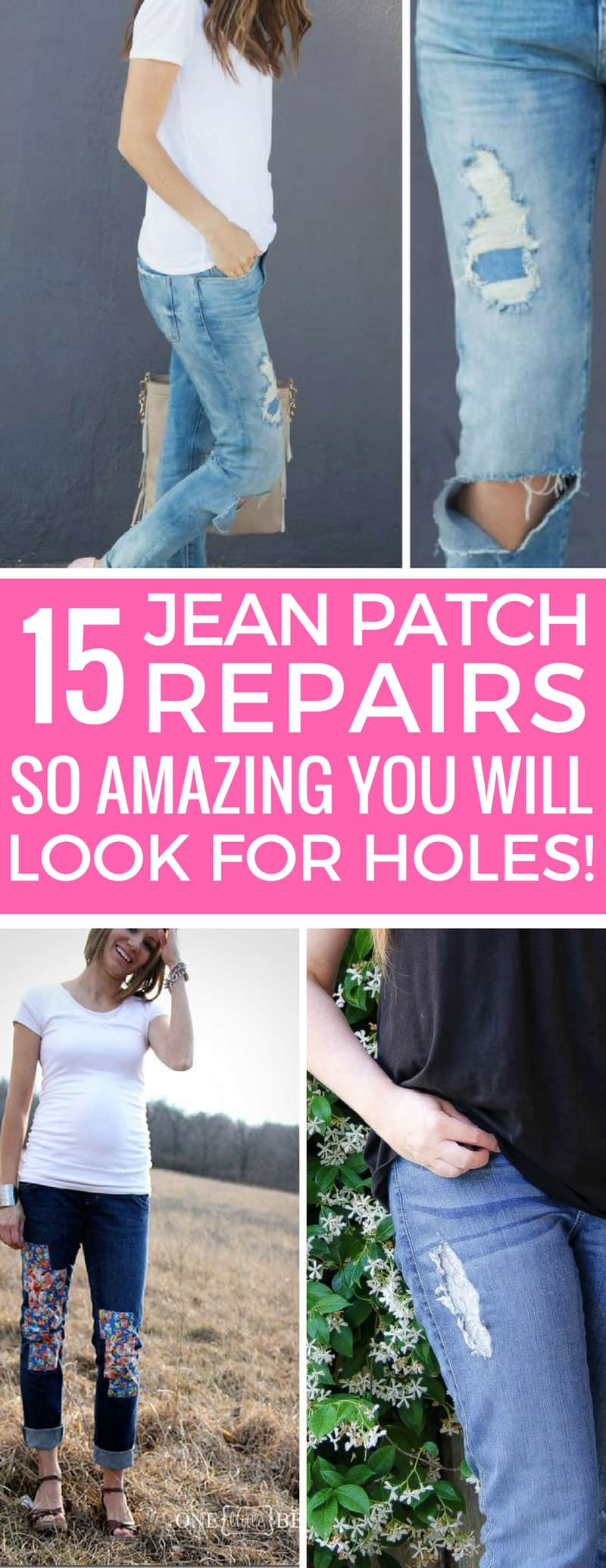 I was about to trash my favorite jeans but thanks to these jean patch repair ideas I'm going to make them look even better! Thanks for sharing!