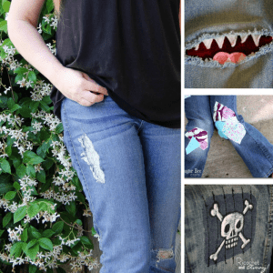 Don't throw those old jeans out! Use one of these super cute patches to repair them!