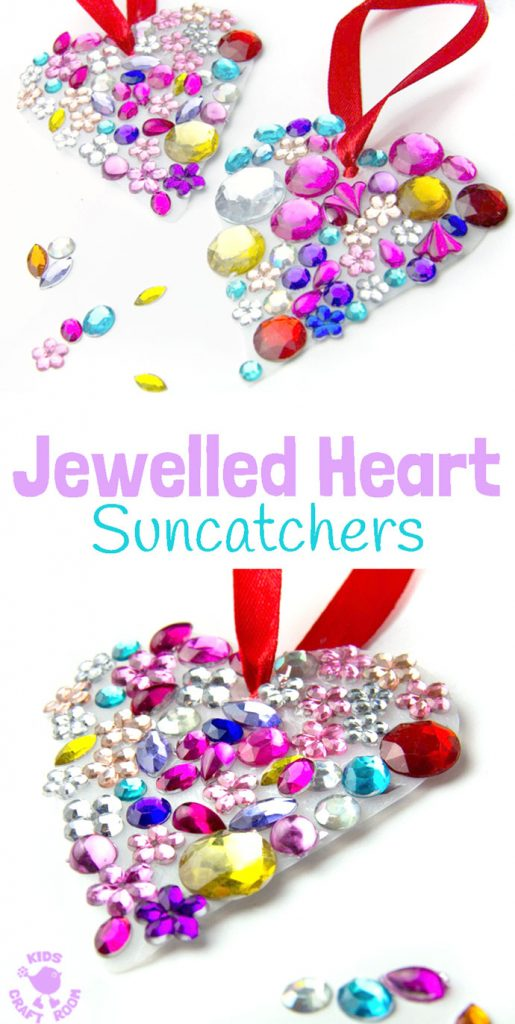 Toddler | Preschooler | Valentine Craft | Recycle Activity | Jewels