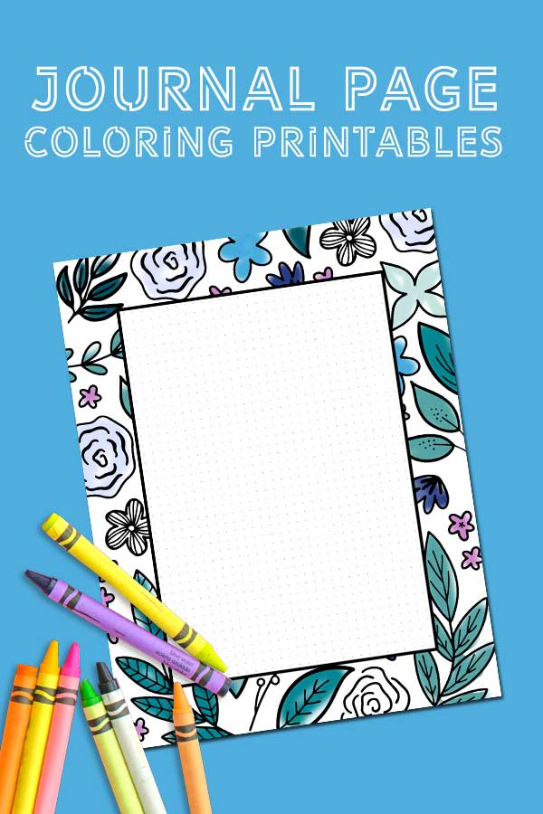 Use these free printable coloring journal pages to put your thoughts on paper