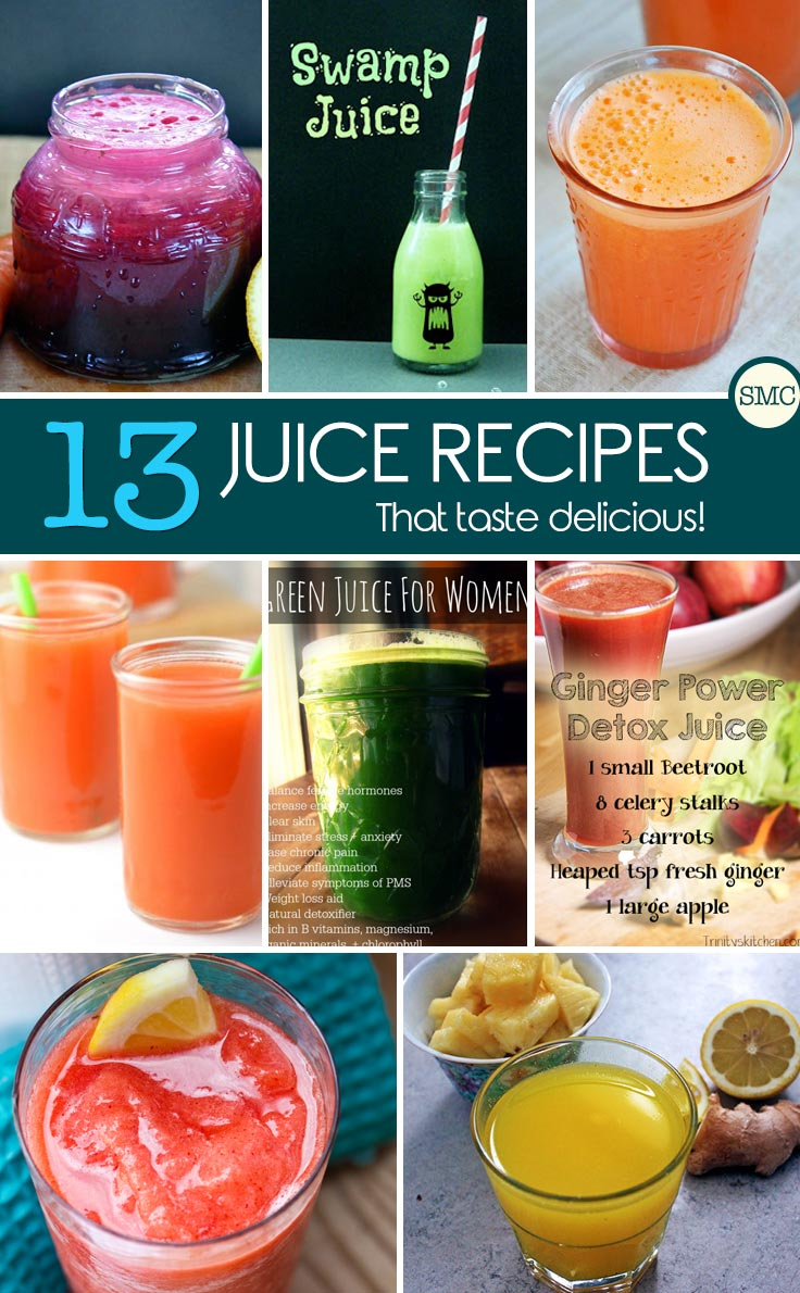 These juicing recipes looks really tasty! Click on the image to see them all.