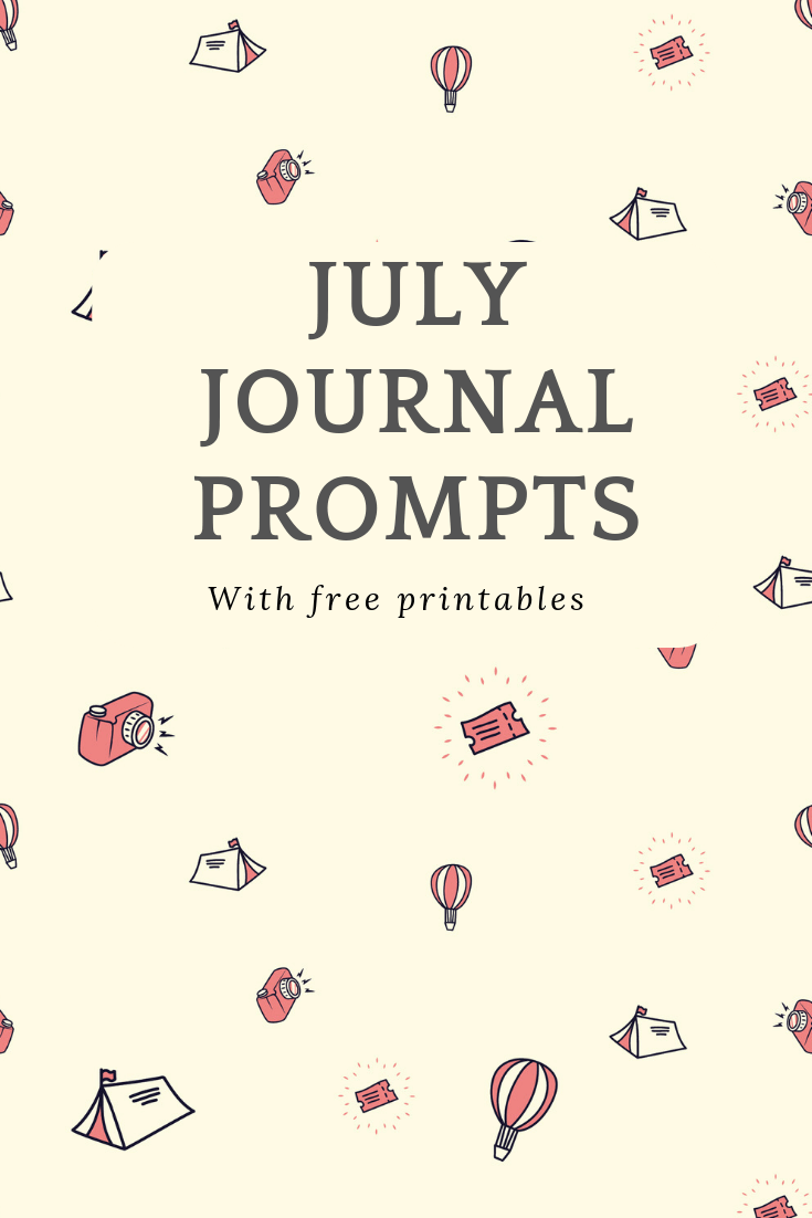 These July journal prompts are just the inspiration you need for journalling this month! #journal #writingprompts