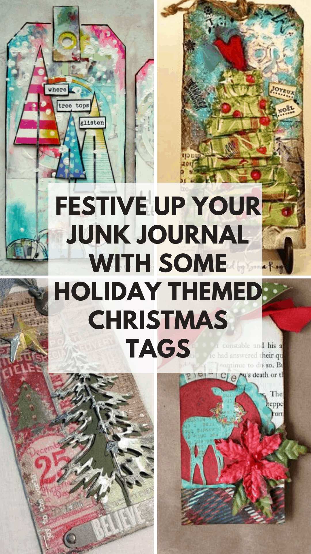 Can't wait to festive up my junk journal with some of these Christmas tags to fill up my pockets and journal on!