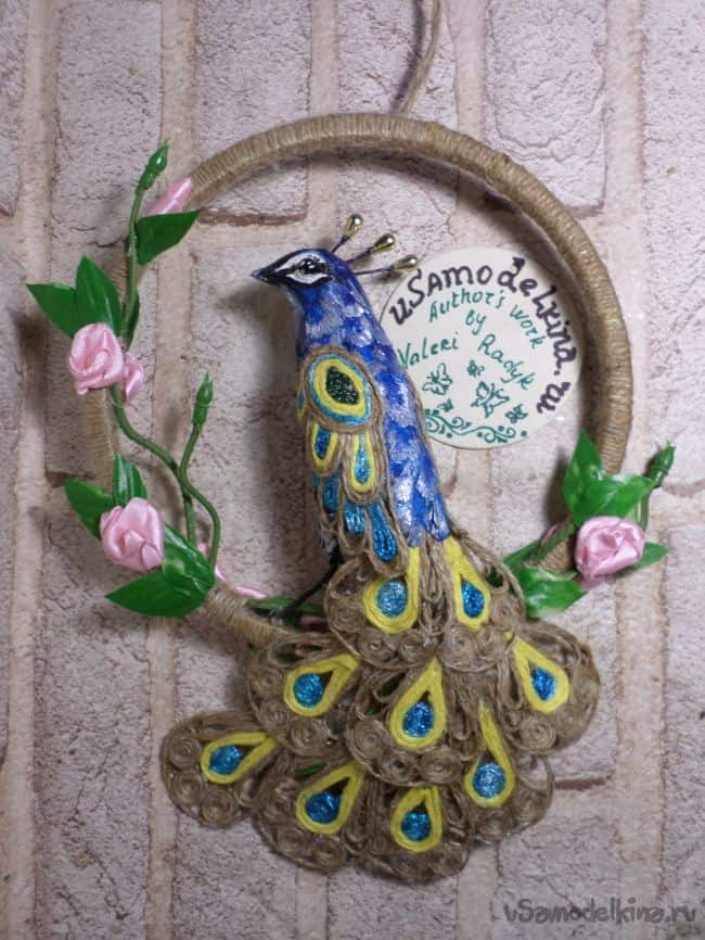 How to Make a Jute Peacock Wall Hanging