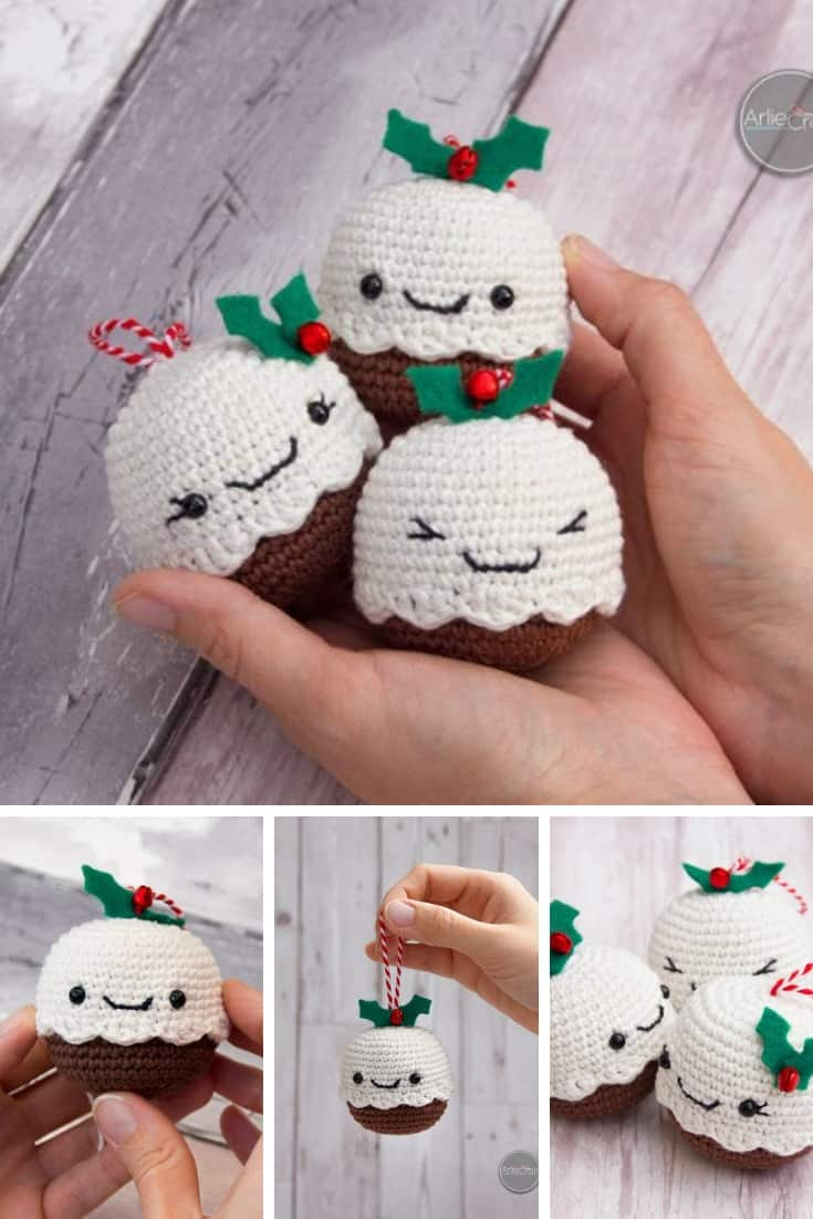 Kawaii Christmas Pudding Crochet Pattern