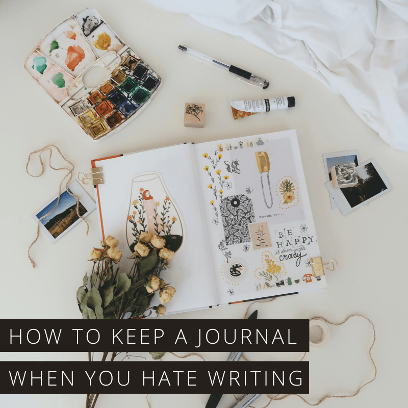 Ever wondered how to journal without writing? It's perfectly possible - and just as beneficial - find out how!