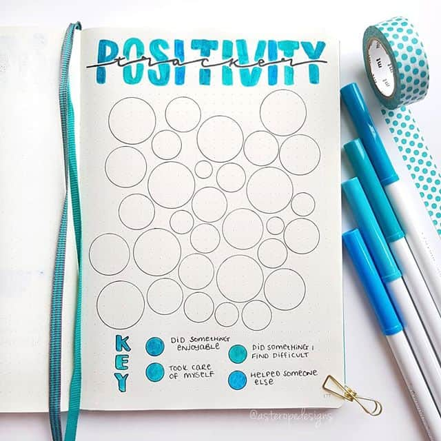 Keep a positivity tracker