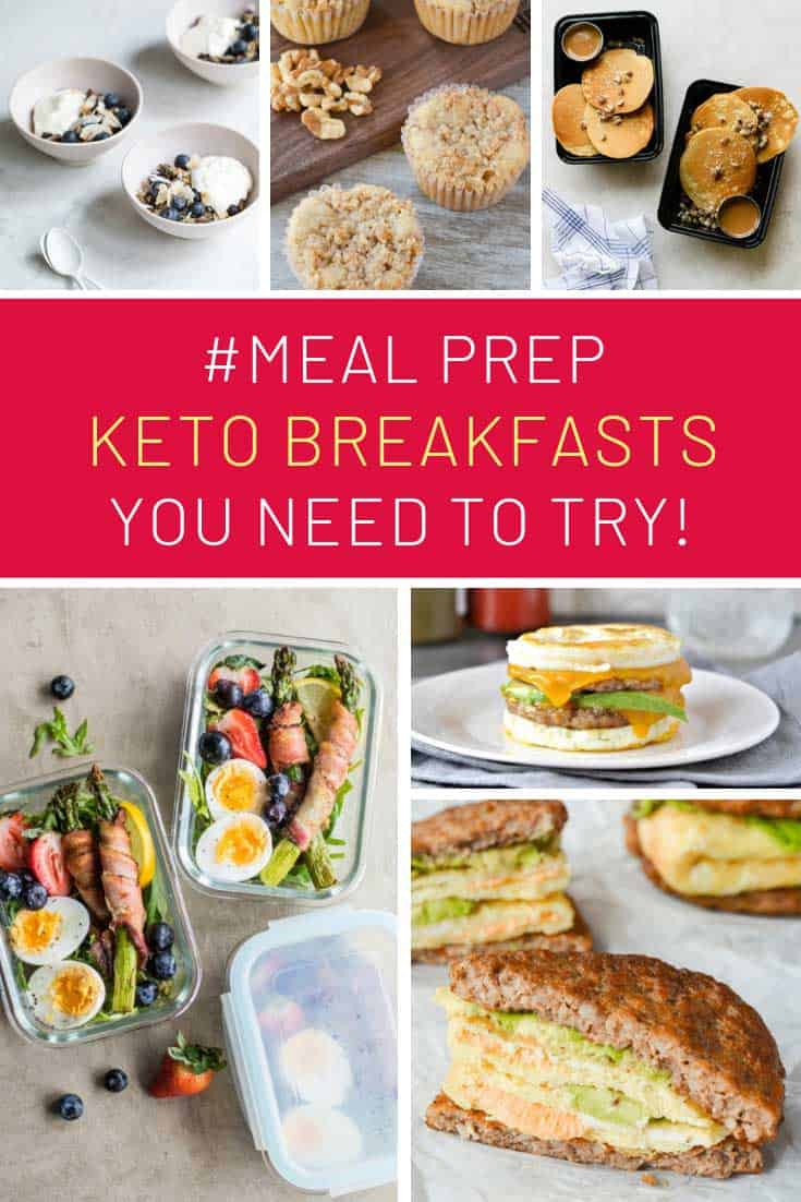 These keto breakfast meal prep ideas mean I don't miss out on pancakes and bagels!