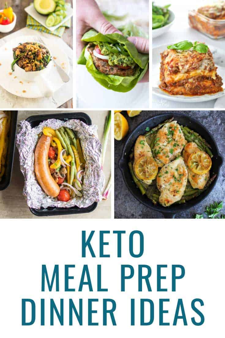So many keto meal prep dinners for the week so we don't get bored!