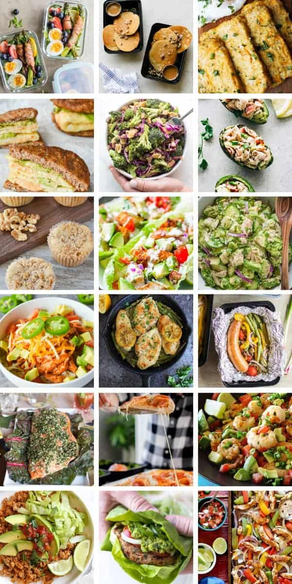 So many healthy keto meal prep ideas for the week! Breakfast, lunch and dinner meal prepping ideas to help you reach ketosis and lose weight #mealprep #mealplan #healthy #keto #ketodiet
