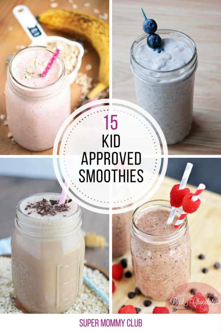 These smoothies are totally delicious and kid approved - great way to get them to five a day!