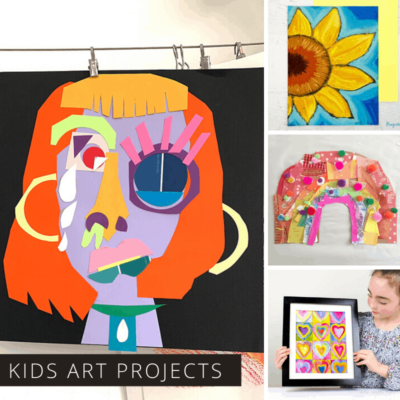 Have fun at home with these creative art projects for kids of all ages - even moms and dads!