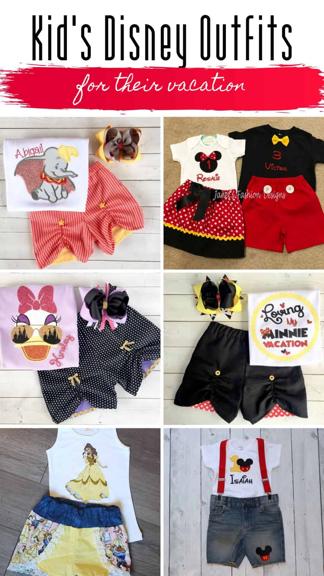 These kid's vacation outfits are super cute and the perfect clothes to wear to Disney World #disneyworld #disneybound