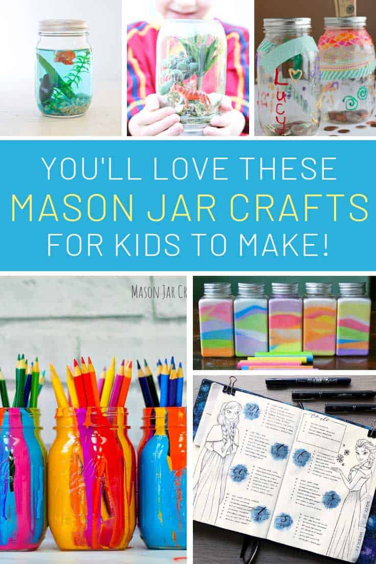 Loving these kid's mason jar crafts - so much fun!
