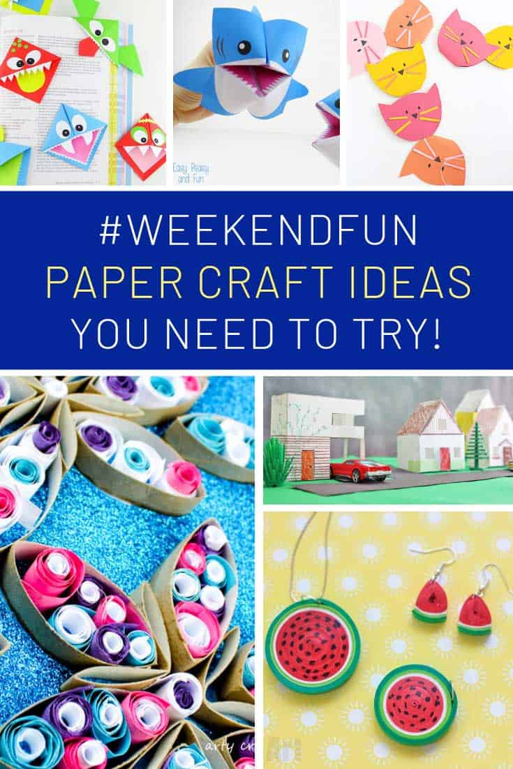 So many fun kids paper craft ideas to try this weekend!