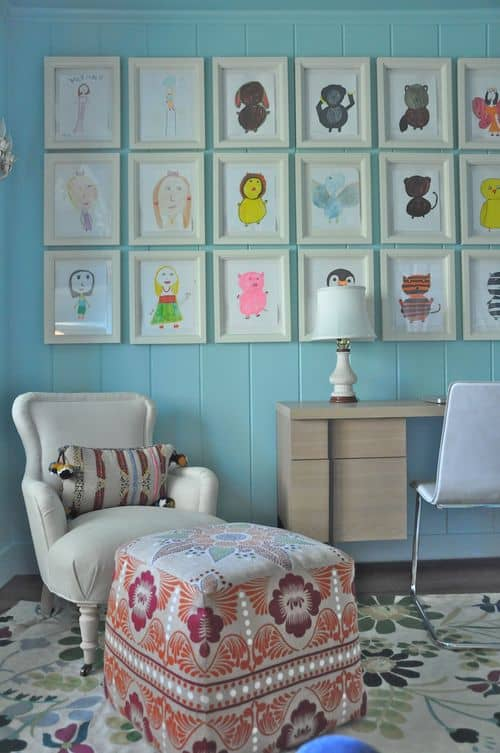 Your child can make their own art gallery in their room!