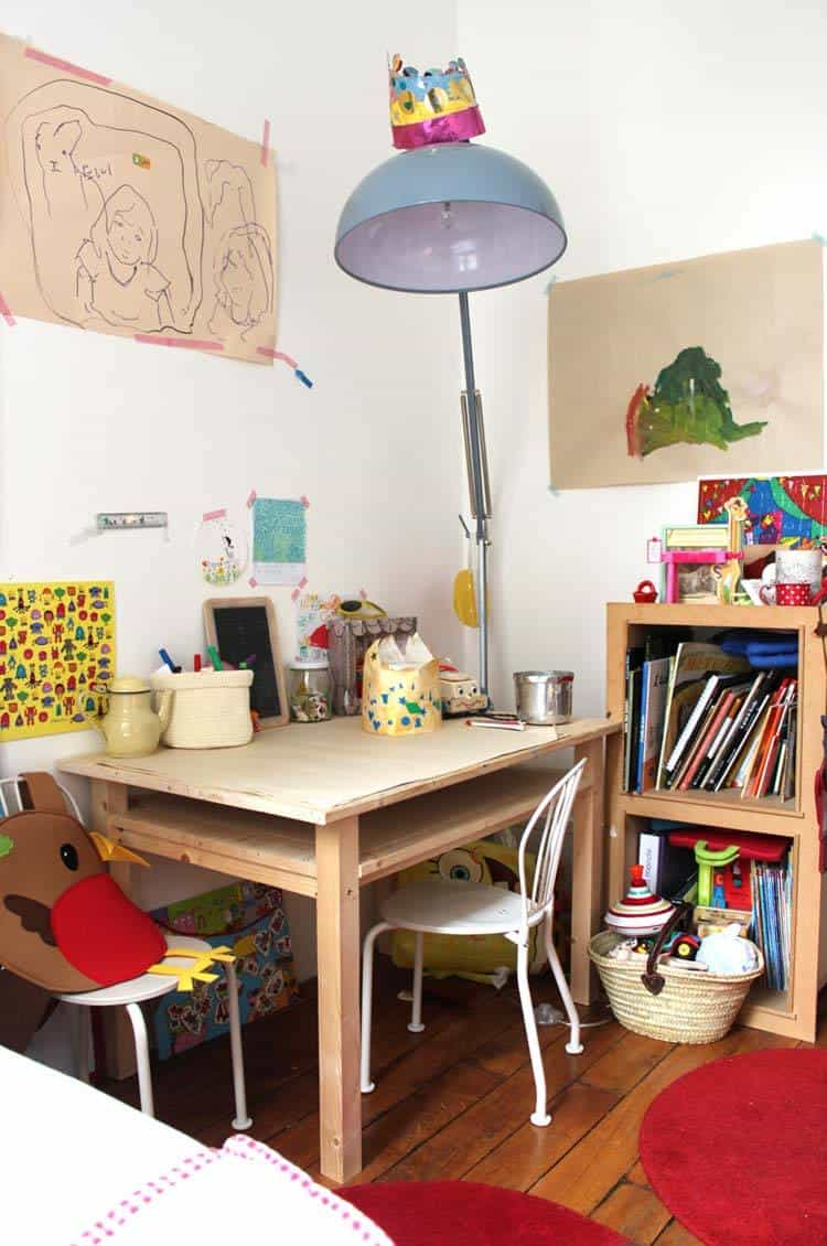 Set up a kids craft station to encourage creativity!