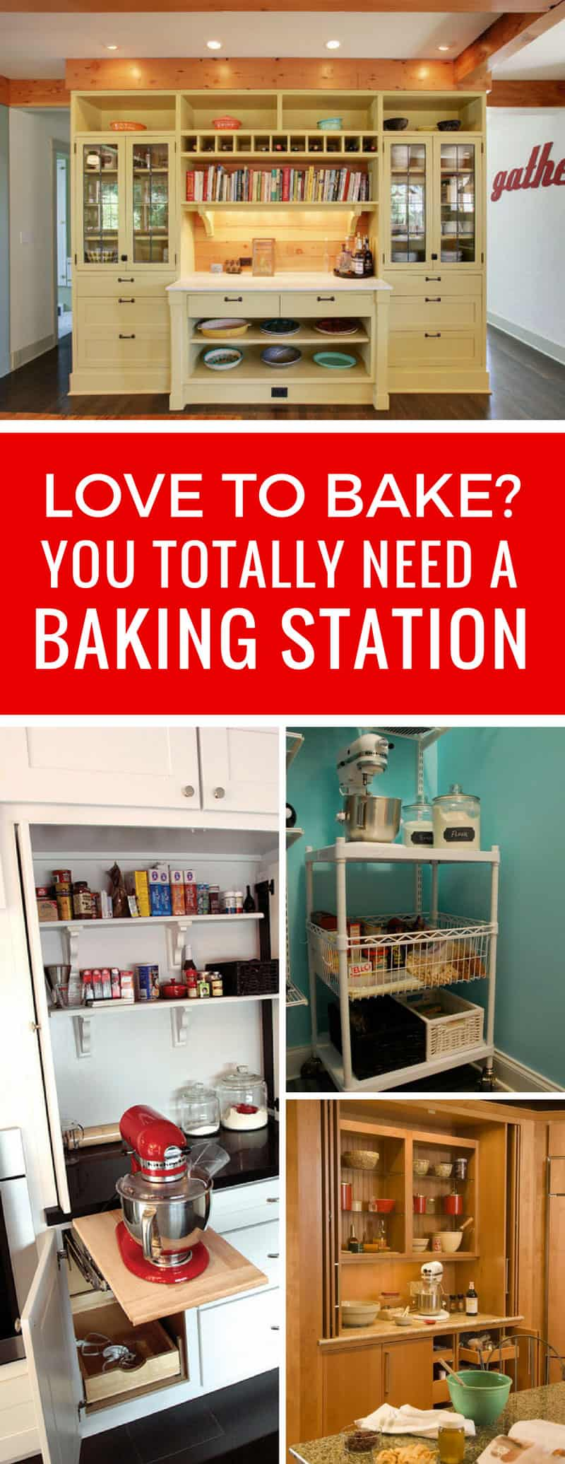Oh yes I am drooling over these kitchen baking station ideas! Now to figure out where to put mine!