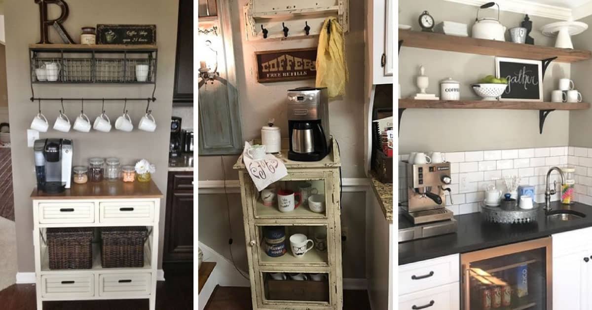 13 home coffee station ideas to help you wake up in the for Coffee station ideas for the home
