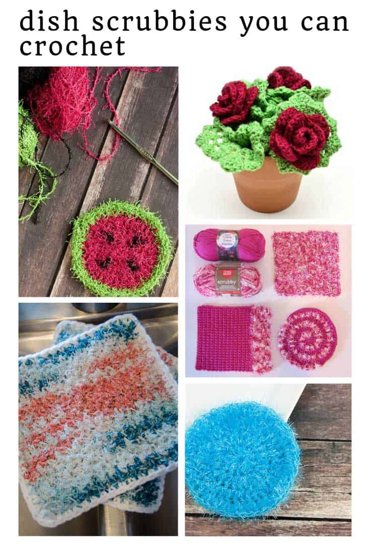 Loving these kitchen scrubbie crochet patterns - especially those roses!