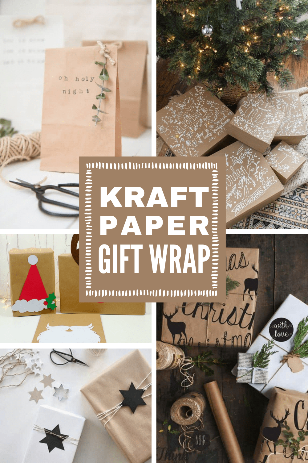 Forget store bought paper this year - you can make your gifts look extra special with a roll of kraft brown paper and a bit of imagination! #christmas #giftwrap #wrappingpaper #kraftpaper