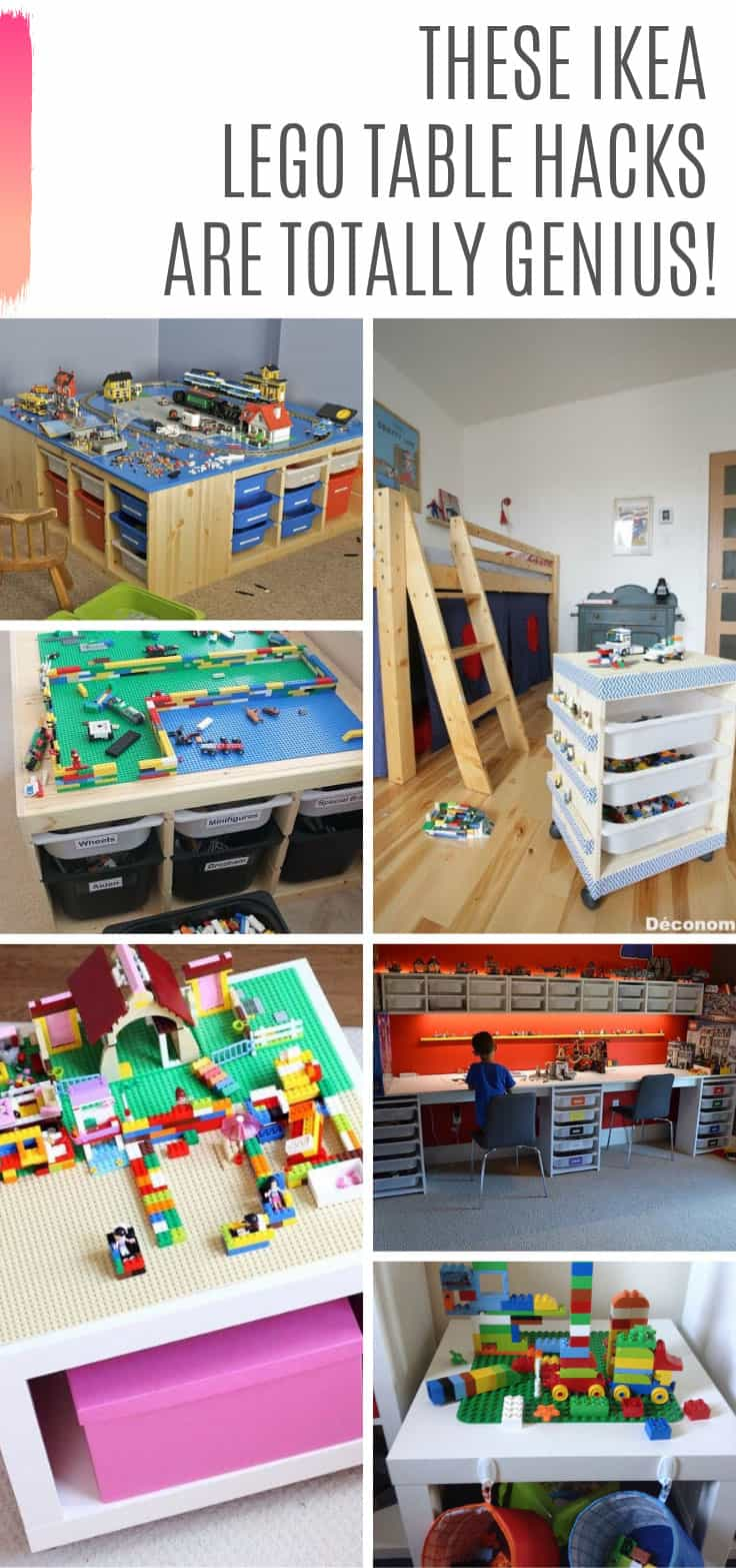 How cool are these LEGO Ikea hacks! I need to get me one of these tables so the kids stop dropping their LEGO bricks all over the floor!