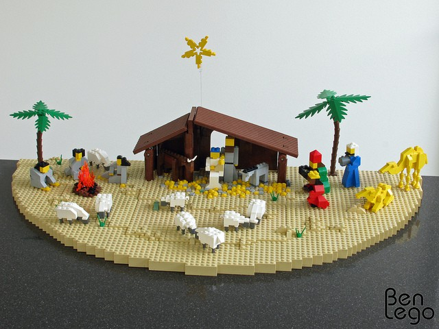 The kids will go CRAZY when they see this! A Nativity scene built out of LEGO. GENIUS!